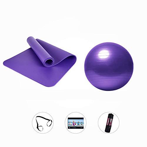Yanxinejoy yogamat fitnessmat, dames, dikke yogamat met yogabal, met duurzame trekker