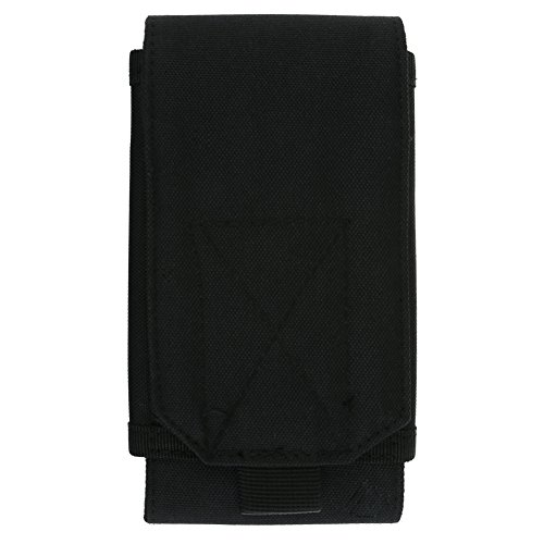 Broadroot universel Sac banane Pochette Mini 1000d Housse de crochet étanche Sac pour téléphone portable lampe de poche extérieur Voyage outils, noir