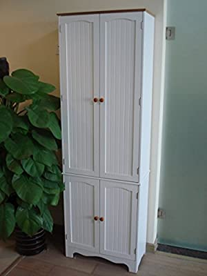 Homecharm-Intl 23.8x11.8X 72.2-Inch Storage Cabinet,White (HC-004)