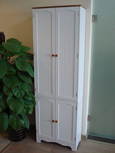 Homecharm-Intl HC-004 Armario empotrado de madera, blanco