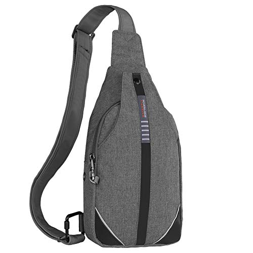Waterfly Small Crossbody Sling Backpack Anti Theft Backpack for Traveling Chest Bags for Men&Women Multipurpose Casual Daypack Hiking Shoulder Bag (Gray)