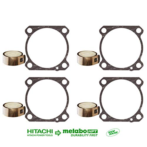 Metabo HPT (4) 878422 Ribbon Spring (4) 877334 Gasket, Works with Hitachi Power Tools