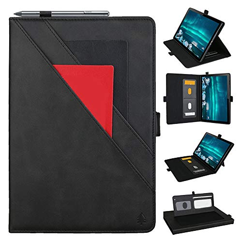 GHC PAD Cases & Covers For Huawei Mediapad M6 10.8 2019, Shockproof Case Magnetic Cover Business Leather Flip Stand Case For Huawei Mediapad M6 10.8 2019 / M6 Pro 10.8 VRD-AL09 (Color : Black)