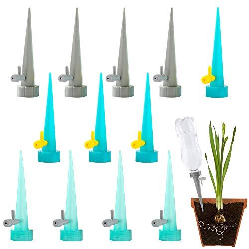 Dispositivos de riego de plantas, BKJJ Sistema de Riego Automático por Goteo, Picos Autorriego De Planta, con interruptor de válvula de control, sistema de riego automático para plantas de jar