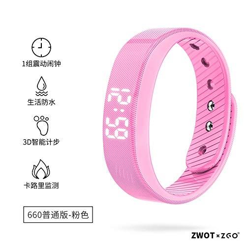FPRW elektronische smartwatch, trilwekker voor studenten, sport multifunctioneel, beste kerstcadeaus, roze