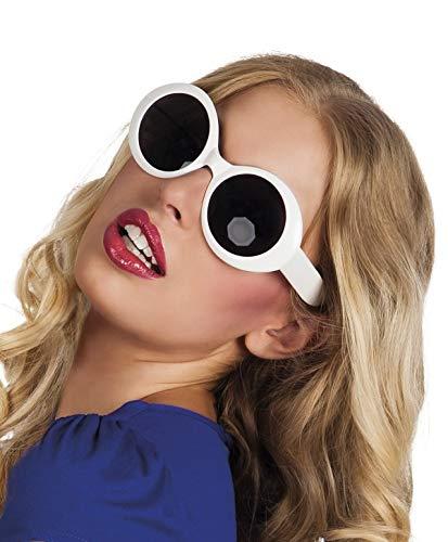 TH-MP 60er 70er Jahre Retro Sonnenbrille oval XXL Shades Kostüm Zubehör Schlager Outfit Accessoire