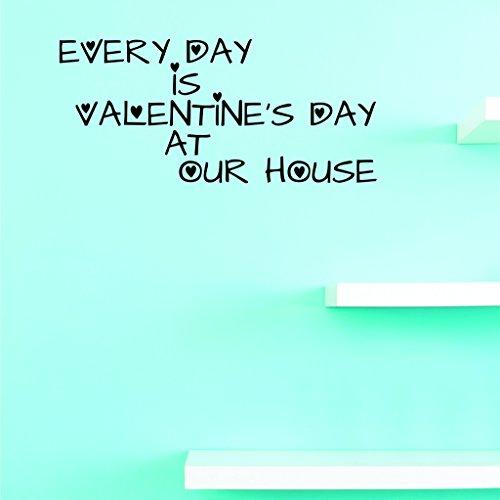 Motif Vinyle Avec 1 Recharges de 2335 1 Hot nouveaux Stickers pour chaque journée de Saint Valentin à Notre Maison Art mural Taille : 25,4 x 50,8 cm Couleur, 25,4 x 50,8 cm, Noir