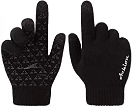 Achiou Winter Knit Gloves Warm Touchscreen Thermal Soft Lining Texting Generation ? Upgraded Thicken