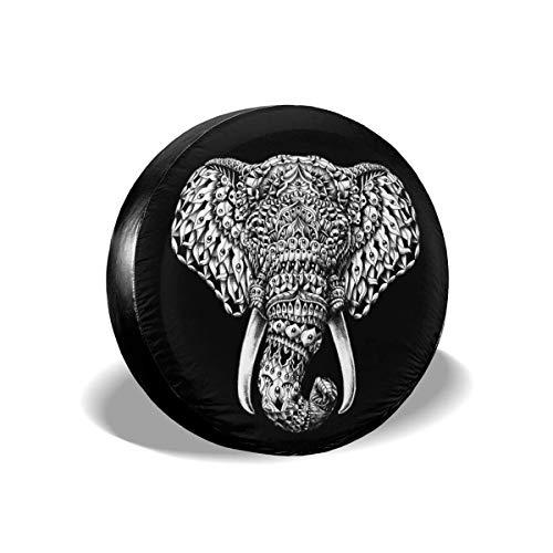 595 Cubierta para Rueda De Repuesto Impresión De Elefante 3D Spare Wheel Tire Cover Universal Cubierta del Neumático Prueba De Polvo Funda para Rueda De Repuesto Weatherproof Vehicles Accessories L