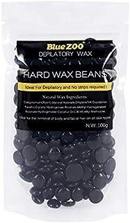 BlueZOO Hard Wax Beans for Hair Remove 100g, Black