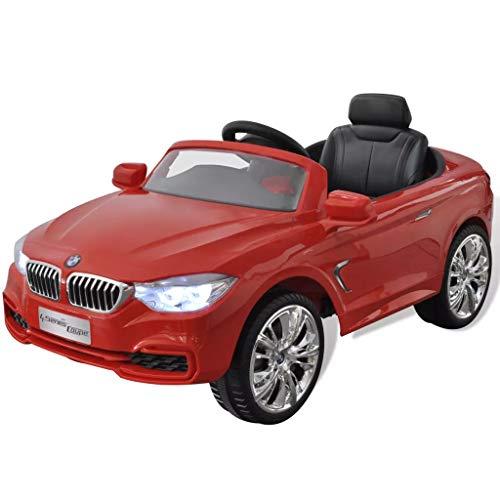 Vehículos eléctricos para niños BMW con mando a distancia, color rojo