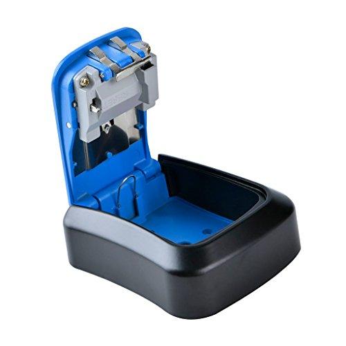 D DOLITY Wasserdicht Schlüsselbox Zahlenschloss Schlüsselsafe Schlüsselkasten Schlüsselschrank mit Code - 2# Blau