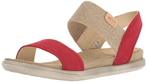 ECCO Women's Damara Ankle Gladiator Sandal, Ombre/Powder, 38 EU / 7-7.5 US