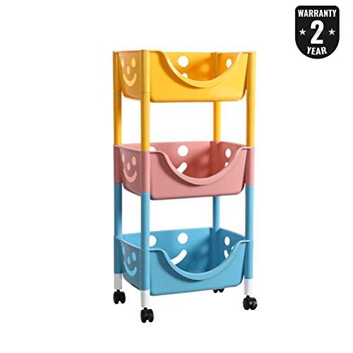 H.L Aufbewahrungswagen Kinderspielzeug Aufbewahrungswagen, Multi-Layer-Haushalt Snacks Rollwagen...