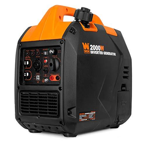 WEN 56202i Super Quiet 2000-Watt Portable Inverter Generator, CARB Compliant,Black