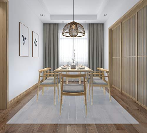 床を保護するダイニングマット クリア フローリングや畳のキズ防止に 食べこぼし キッチン 透明 PVC フローリングシート 食卓 料理 テーブル 撥水 カット可能 180*150 (180*150cm, 透明 厚さ1.5mm)