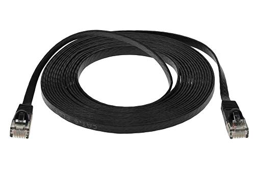 Premium CAT6 Ultra Flat Ethernet Network Cable 15 ft