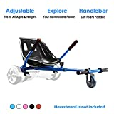 Hoverboard Kart, Hoverboard Seat Attachment Accessories for Self Balancing Scooter Go Kart Conversion Kit Hover Board Cart Buggy Attachment Fits 6.5'' 8'' 10'' Adjustable for All Heights & Ages Blue