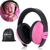 Gehörschutz Baby 0-2 Jahre | Kinder Gehörschutz | Ohrenschützer Lärmschutz Baby | Kopfhörer Baby | mit Aufbewahrungsbeutel(Rosa)