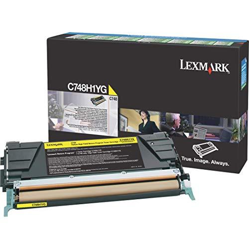 Lexmark C748H1YG Yellow High Yield Return Program Cartridge Toner