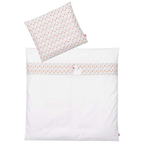 FEHN 062557 Parure de lit pour bébé avec taie d'oreiller 35 x 40 cm et Housse de Couette 80 x 80 cm