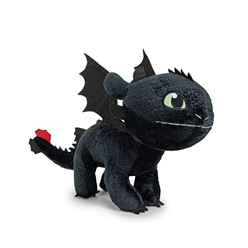 HTTYD Dragons - Peluche Drago Sdentato Toothless Furia Buia 60cm Colore Nero qualità Super Soft (760017686)