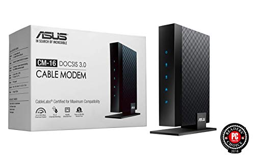 ASUS CM-16 DOCSIS 3.0 CableLabs-certified 16x4 Cable Modem (Renewed)