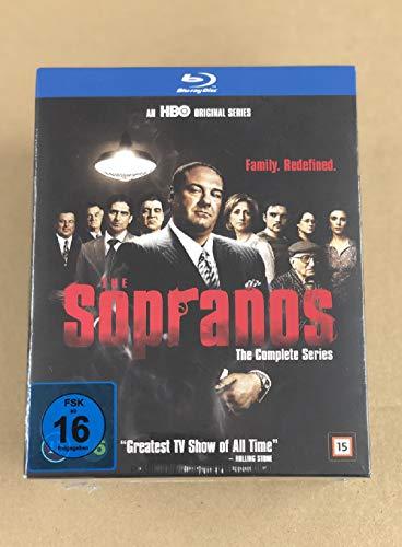 Sopranos Die komplette Serie Staffel 1-6.2 Komplettbox (EU Import mit Deutscher Sprache) [Blu-ray]