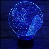 Westliche Sternzeichen Tischlampe Schreibtisch Farbwechsel Kinder Kinder Baby Nachtlicht Geschenk...