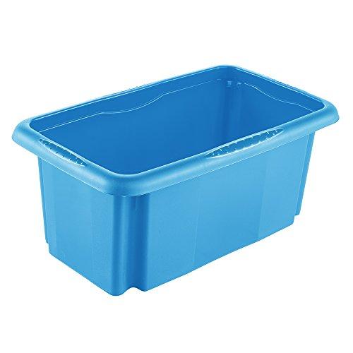 keeeper Aufbewahrungsbox mit Dreh-/Stapelsystem, 35 x 20,5 x 15 cm, 7 l, Emil, Blau