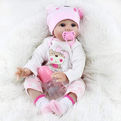 22pouces 55cm poupée Reborn bébé Fille realiste Silicone Pas Cher Vrai Poupon Baby Dolls Girls...