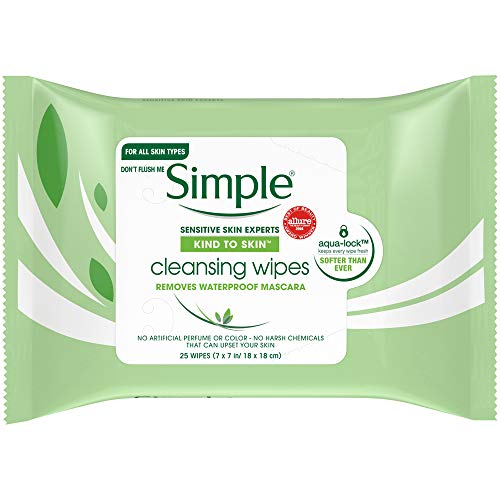 Simple Kind To Skin 25 Cleansing Facial Wipes (3 packs)