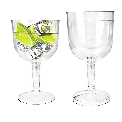 Ginsanity Verres réutilisables réutilisables de Copa Gin de Pique-Nique de Poly-Carbonate en Plastique - 580ml - Set
