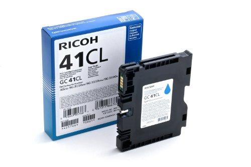 Ricoh 405766 SG2100N Inkjet Cartridge, 600 Seiten / 5% Deckung, GC41CL, cyan