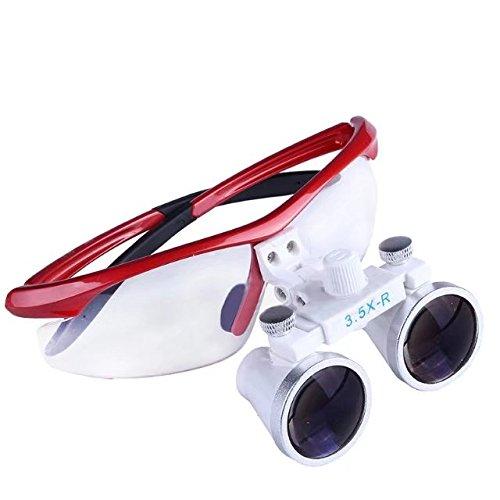 BoNew 3.5X-R Binocular Optical Dental Glass Head Loupe Surgical...