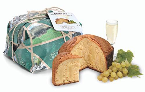 Traditionell gebackener Panettone mit Trevisaner Perlwein– von Fraccaro Spumadoro, Weihnachtsgebäck Made in Italy – Handwerklich gefertigte Verpackung (750 g)