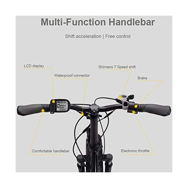 41bJ jS6O2L. SS600  - FJNS Mountainbike 48V 13Ah,klappbares elektrisches Fahrrad mit austauschbarem Akku und LCD-Display,faltbares elektrisches Fahrrad 20 Zoll 4,0,breiterer Reifen, Strand,E-Bike 25-40 km/h - 400 W