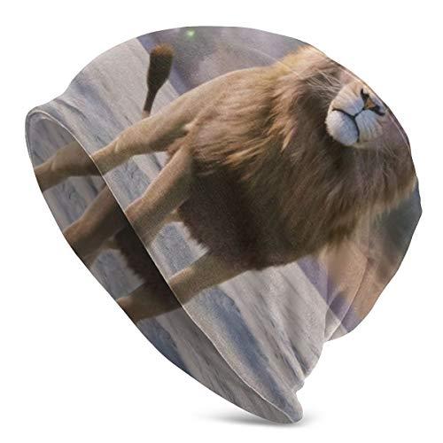 Gorro de Invierno con diseño de la película del león de Narnia, la Bruja y el Armario, Tejido cálido, elástico, Suave y Duradero