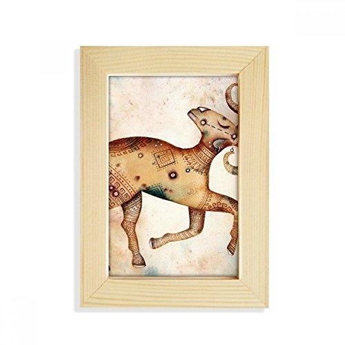DIYthinker maart april Ram sterrenbeeld Zodiac Desktop Houten fotolijst Picture Art Schilderen 5X7 Inch