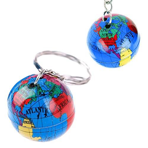 Llavero de metal con globo: llavero mundial, planeta tierra,...
