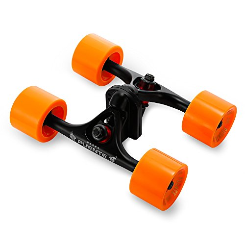 2pcs/lot Truck Skateboarding Cruiser Longboard pièces avec roue Riser, Orange