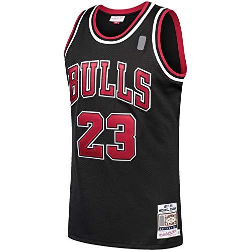 Chicago Custom Top Sin Mangas Michael Basketball Jersey Bulls Manga Corta -Negro -#23 Hardwood Classics Player Jersey Icon Edition-S