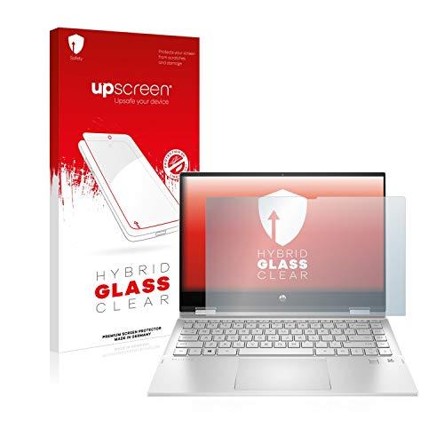 upscreen Hybrid Glass Panzerglas Schutzfolie kompatibel mit HP Pavilion x360 14-dw0011nl 9H Panzerglas-Folie