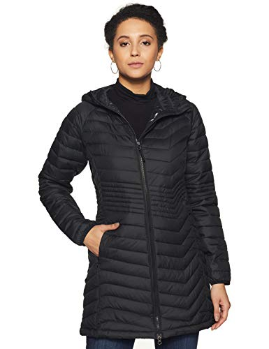 Columbia Powder Lite, Chaqueta de longitud media, Mujer, Negro (Black) Talla S