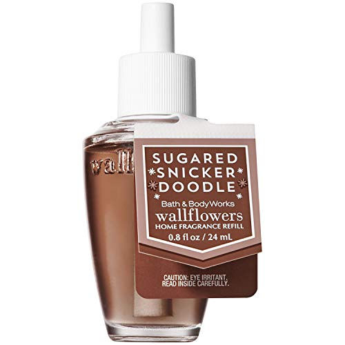 Bath and Body Works SUGARED SNICKERDOODLE Wallflowers Home Fragrance Refill 0.8 Fluid Ounce (2018 Holiday Edition)