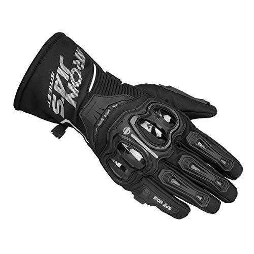 Gants de Moto 100% imperméable à l'eau, Hiver Chaud Gants de Moto en Fibre Knuckle avec Fonction écran Tactile pour Hommes Femmes