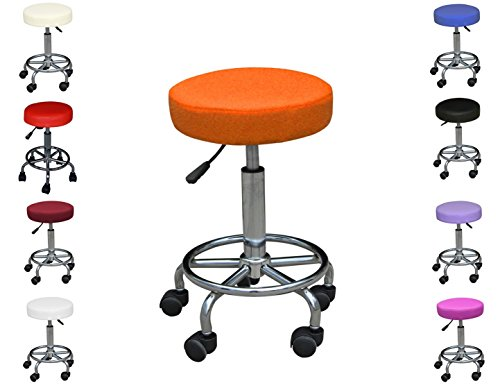 Polironeshop Simply kruk voor Estetista massage pedicure manicure esthetiek visiotherapie ligstoel massagelligstoel esthetiek, nail art tafel Oranje.