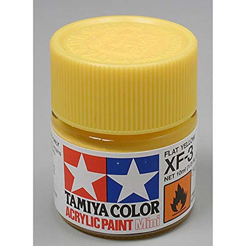 Tamiya 81703 - Pintura Acrílica Mini, Mate Amarillo Frasco de 10ml, XF-3