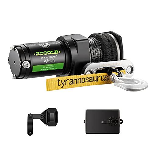Tyrannosaurus 2000-lb. ATV/UTV Synthetic Electric Winch Kit