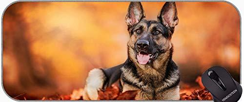 Juego extendido Alfombrilla de ratón / Almohadilla - Grande, Mascota Pastor alemán Perro otoño Antideslizante portátil Ordenador portátil Teclado Mousepad